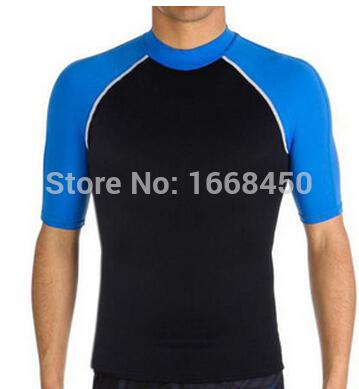 Mens rash guard shirts tops sleeves diving suit lycra surfing swimsuit wetsuit swimwear leotard swimming water sport(China (Mainland))