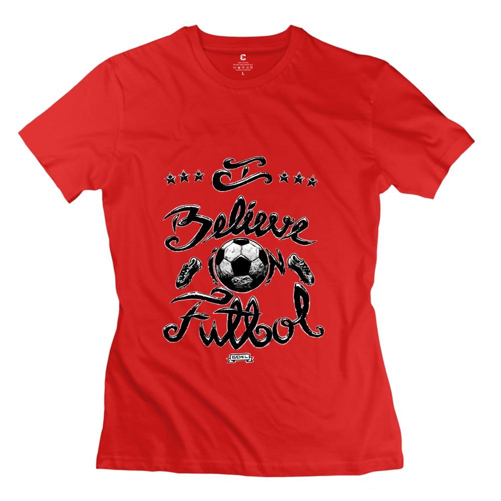 2015 Custom Made Soccer, futbol, religion, love Women's t shirt 100% Cotton High Quality Girl t-shirt(China (Mainland))