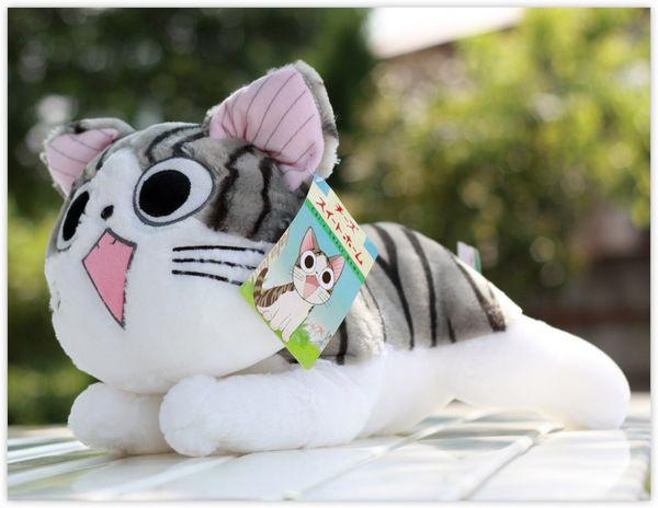 Super cute sweet Cheese cat plush toy animals toys 20cm cheese cat plush toy 10pcs/lot(China (Mainland))