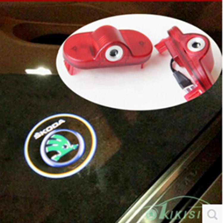 Skoda Dedicated Car Doors Light Logo laser projector For Skoda Octavia Fabia 07-09 Roomster 06-09(China (Mainland))