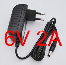 1 stück hochwertige AC 100V-240V wandler-ic netzteil dc 6v 2a 2000ma 12w netzteil eu-stecker dc 5,5 mm x 2,1 mm neue(China (Mainland))