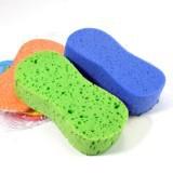 (Mix Min order $10) Super 8 words vacuum compressed sponge / Car wash sponge(China (Mainland))