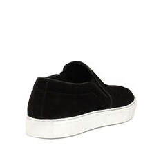 2015 new casual black color shoes women flats with elastic band genuine Leather mcq shoes women