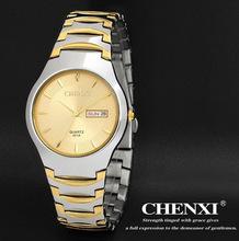 2015 Brand 3 colors optional Steel Watches Men's Diamond Calendar Classic Business Watch Waterproof Quartz clock golden QN3781