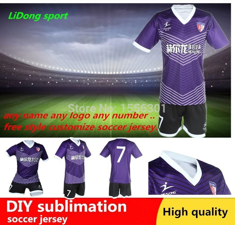 CUSTOM Sublimation Thermal transfer kids soccer uniform, original logo football clothes camisas times manufacturer football sets(China (Mainland))