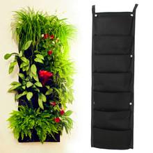 -Pocket new feltro 1 pz esterno verticale giardinaggio vasi di fiori e vasi appesi planter sulla parete fioriera green field  (China (Mainland))