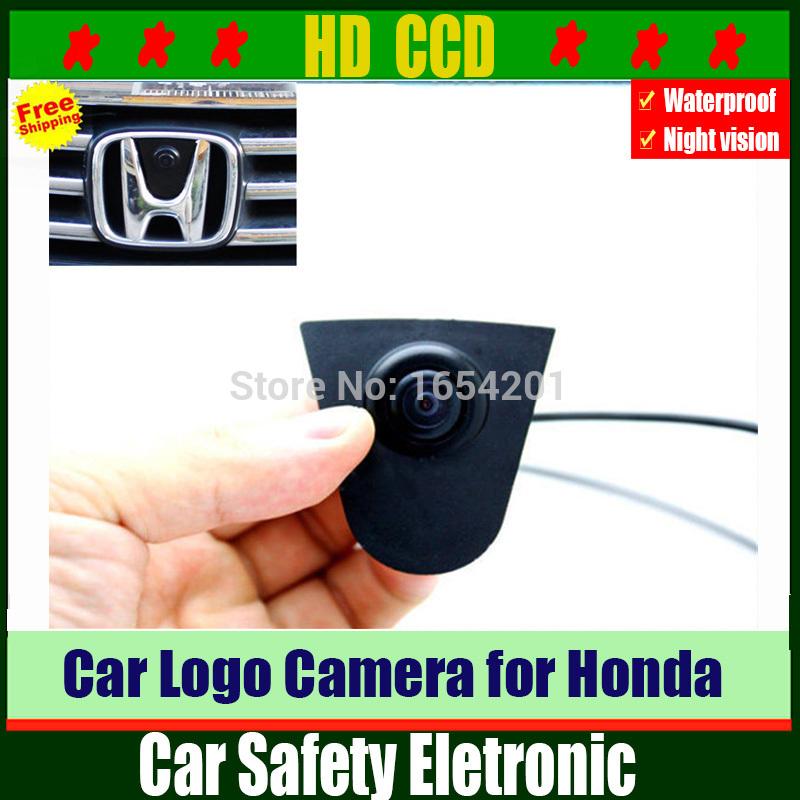 HD CCD Car Front View Logo Camera,Vehicle logo Front view camera for Honda Odyssey New accord Civic CRV Spirior Crosstour(China (Mainland))