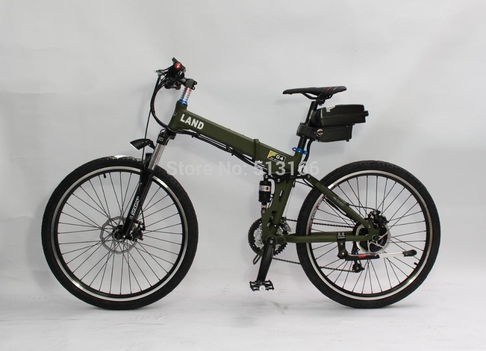 Final Clearance Electric Bike 36V 350W Electric Bicycle Green Color Foldable Frame with 36V 12Ah Seatpost