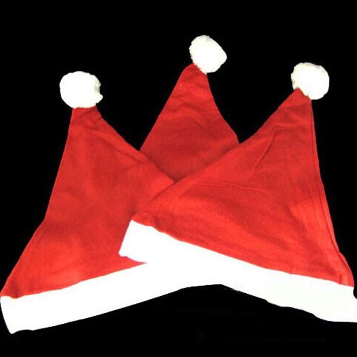 2015 Hot Sale Christmas Clothing Christmas Hat Non-Woven Flock Christmas Hats Thick Ultra Santa Claus Christmas Supplies Cap(China (Mainland))