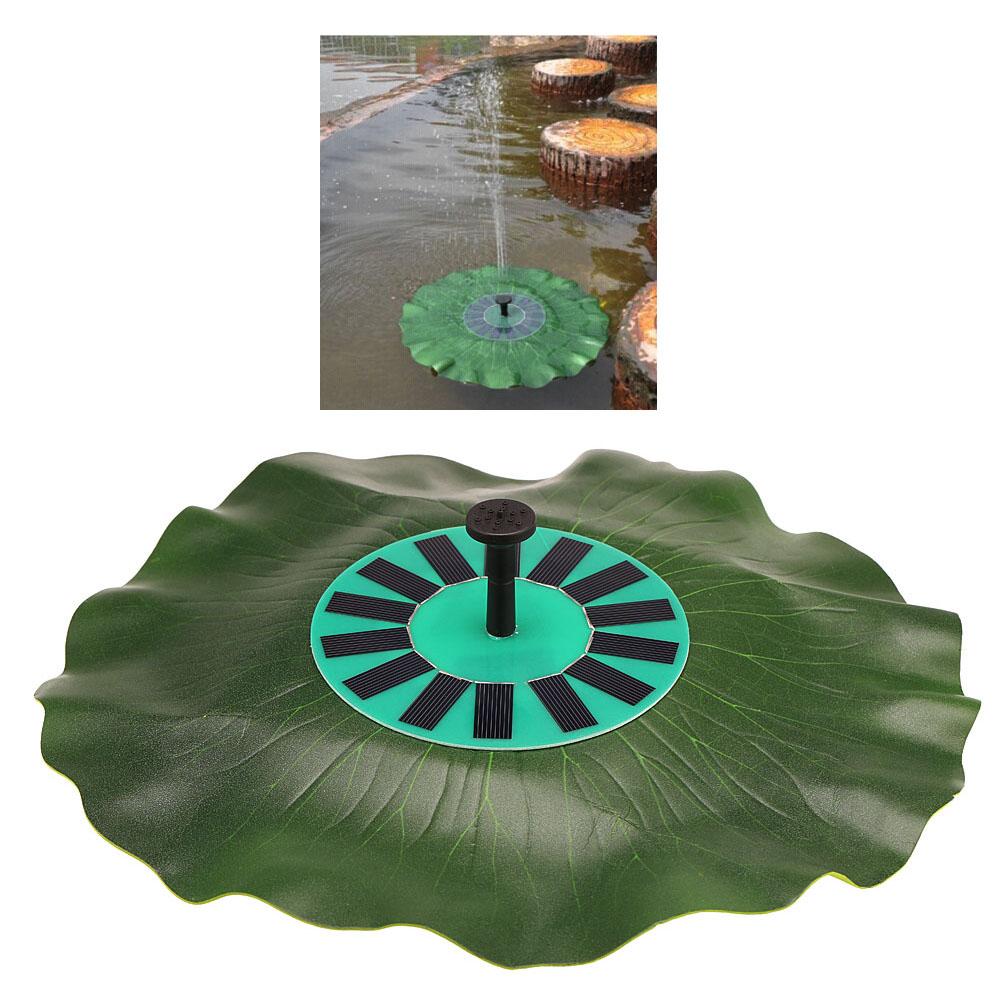 Solar Power Water Pump Kit Lotus Leaf Fountain Floating Brushless Decoration Monocrystalline Panelfor Bird Bath Garden Pond(China (Mainland))