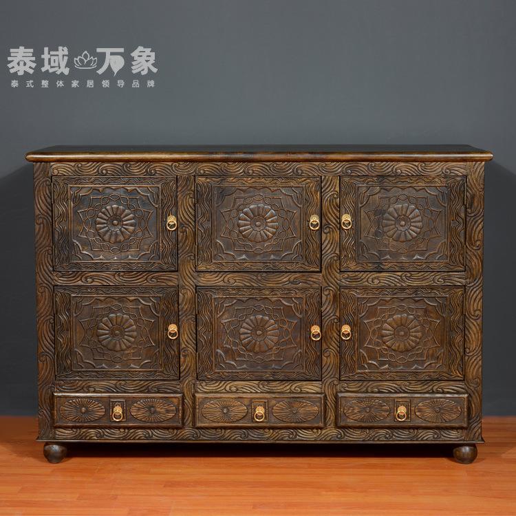 Estilo do sudeste asiático móveis de madeira com armários de armazenamento gaveta armários de armazenamento pode ser personalizado arte clássica armários(China (Mainland))