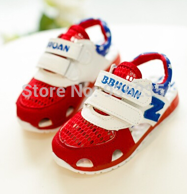 2015 Summer New Korean Version children girls boys shoes kids breathable mesh sneakers half Sandals(China (Mainland))