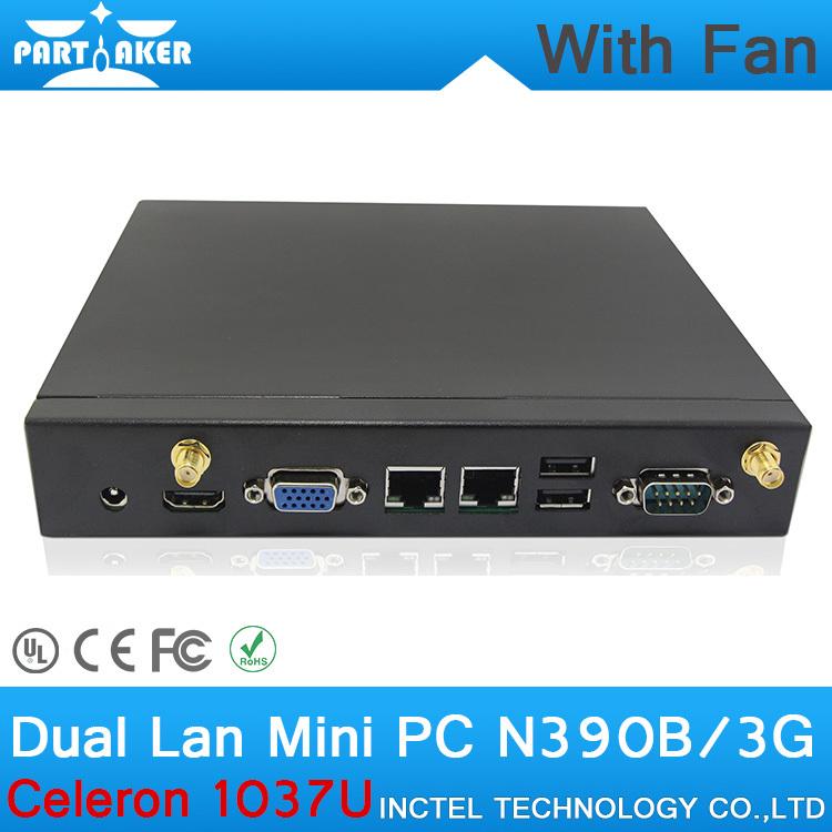 2G RAM 8G SSD Mini linux embedded pc Windows 7 mini pc with Intel Celeron 1037U dual core 1.8Ghz dual nics mini pc(China (Mainland))