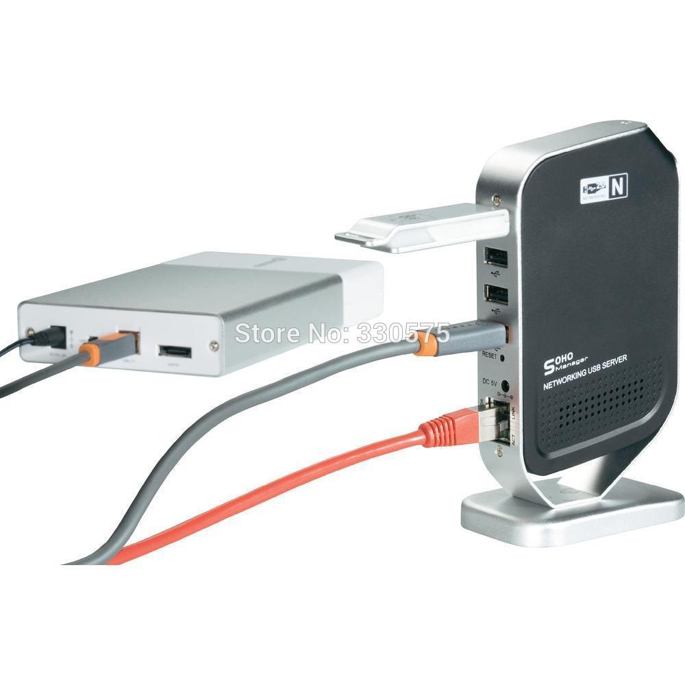 Free shipping for 1000m Networking USB 2.0 Hub Server Ethernet LAN Share Printer 4-port USB Device Speaker Hd Dv/dsc Webcam MFP(China (Mainland))