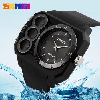 Из светодиодов Relogio Masculino SKMEI марка мужчины военные спортивные восхождение часы 3 атм водонепроницаемый де-лос-hombres Relojes свободного покроя цифровые часы #07