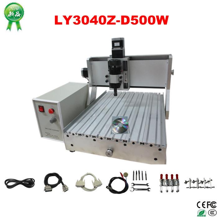 Быстроходный деревообрабатывающий фрезерный станок ! LY 3040 z/d 500W CNC 3040 Z-D 500W 3axis