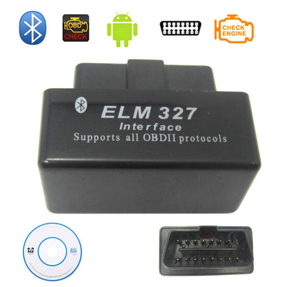 Super Mini elm327 black ELM327 v2.1 Bluetooth OBD2 OBDII auto Diagnostic Scanner Works on Android Symbian Windows(China (Mainland))
