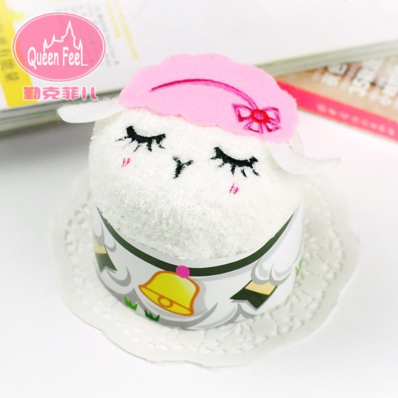 حفل زفاف لوازم قد ومفيدة هدية أفكار هدايا عيد الظهر للاحتفال سنة من الماعز litt لطيف منشفة كعكة الزفاف(China (Mainland))