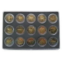 Boxed sets of coins--Russia replica wildlife Red Book Series UNC 5rouble/10 Rouble 50 Rouble/ wild animal