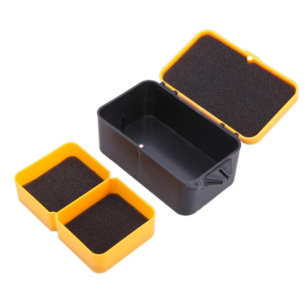 10 * 6 * 4.8cm Double Layer Fishing Box Multifunction Plastic Baits Earthworm Worm Lure Carp Fishing Tackle Box Storage Case(China (Mainland))