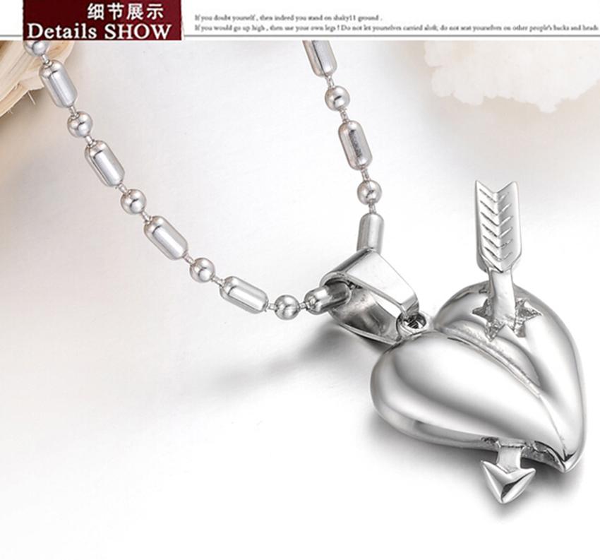 Hot sell loving heart jewelry Heartseeker necklaces titanium steel Cupid pendants punk and rock style Fashion