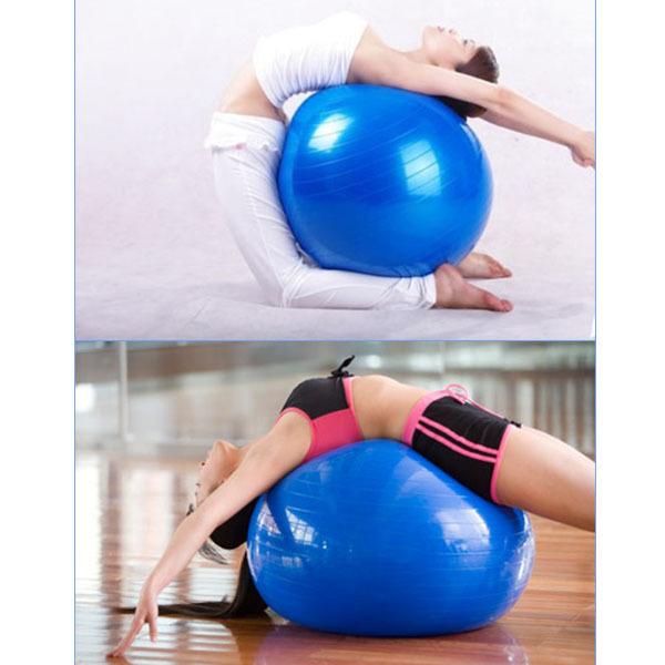Big Size 75cm Yoga Ball Home Gym Exercise Pilates Equipment Fitness Ball Pump 6 Colors Sport Tools Fitball PB081(China (Mainland))