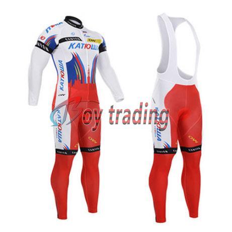 bule gel pad news 2015 long sleeve team pro spring autumn cycling jersey and pant bib set free shipping(China (Mainland))