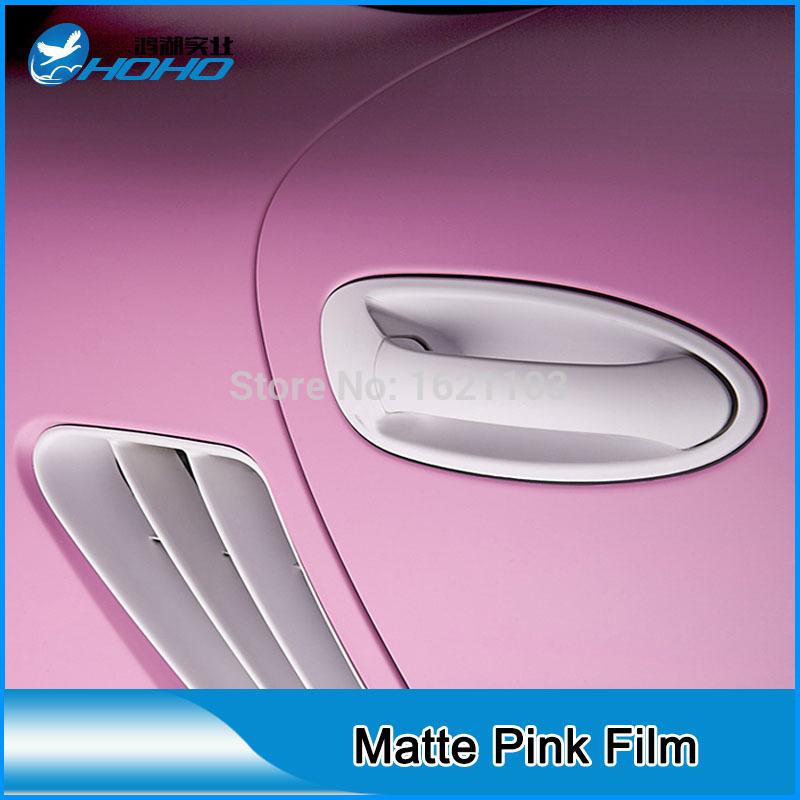 High quality (air free bubbles)matt pink Car Sticker for auto car decoration(China (Mainland))