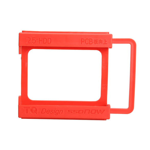 2 5 to 3 5 Inch SSD HDD Hard Disk Mounting Adapter Bracket Dock Holder Plastics