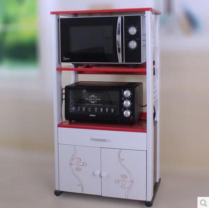 Chia-resistant microwave rack shelving rack three mobile locker shelves(China (Mainland))