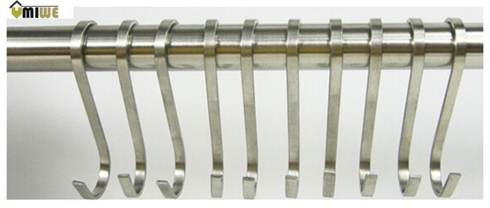 Umiwe Kitchen S Shaped Stainless Steel Hanging Hooks Hangers, Set of 5(China (Mainland))
