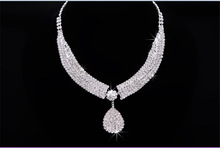 2015 new fashion Jewelry sets LUXURY RHINESTONE Bride Crown Bridal Necklace 3 PCS Suit Marriage Accessories