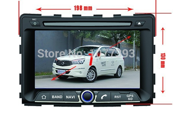 Russian menu android 4.4.2 Special car PC dvd for GPS Ssangyong Rexton 2006-,BT, FM, SD, USB, steer wheel control dvd map(China (Mainland))