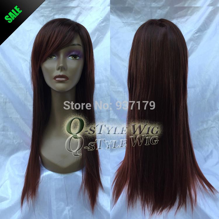 Dark Wine Red Color Hair