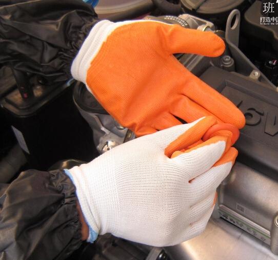 10pairs freeshipping Class work nitrile coated gloves nylon slip coating fine work gloves(China (Mainland))