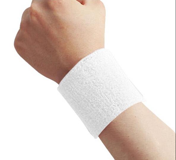 5 PCS Sweatbands Terry Cloth Cotton Wrist Sweat Band Wristband Sport Yoga Workout Running Women Men