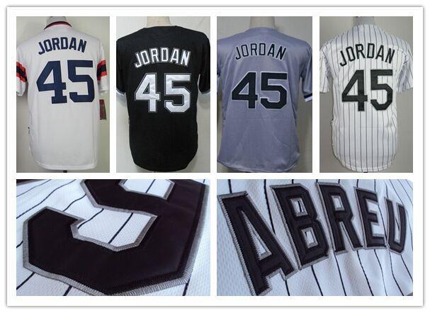 #45 Michael Jordan Jersey Chicago Baseball Jerseys Cheap Authentic Sport Jersey Mens Embroidery Stitched logos Cool Base Best(China (Mainland))