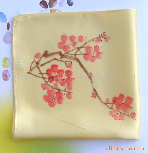Supply of quality hand-painted silk bandanna, advertising supplies silk gift(China (Mainland))