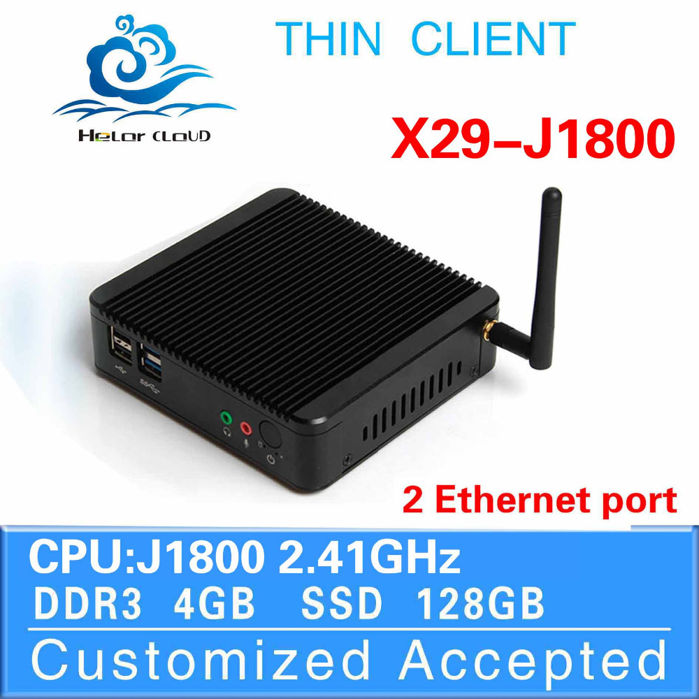 Mini Pc Intel J1800 dual core Thin Client With Wifi Without Fan Desktop Computer Laptop Computer Fanless Thin Client(China (Mainland))