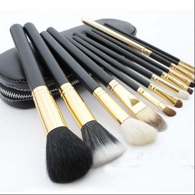 professional pincel maquiagem makeup brushes kit cosmetic tool 12pcs wood eyeliner contour kabuki naked foundation brush fiber(China (Mainland))