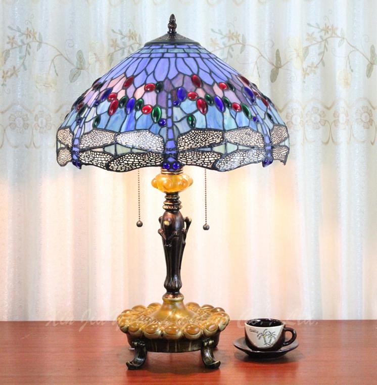 Simple style europ en de l 39 ancien verre verre abat jour for Lampe de chevet style anglais
