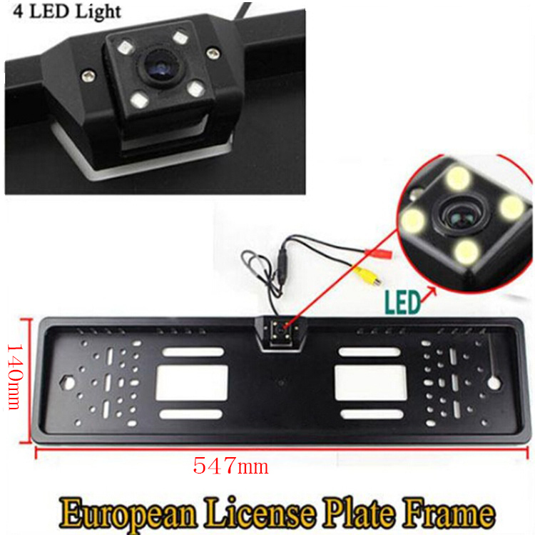 2015 New Arrival HD CCD EU Russia Car License Plate Frame Rear View Camera For European Cars With 4 IR Light + Waterproof PC1015(China (Mainland))