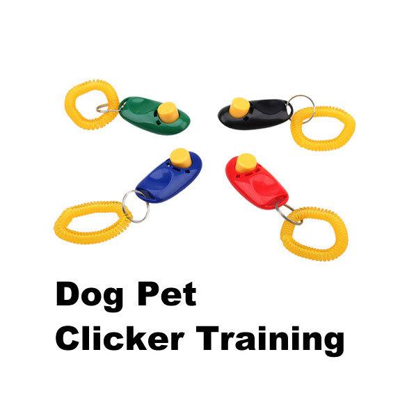 New Arrival Pet Dog Training Aid Click Clicker Dog Trainer Aid Portable Wristband Bracelet Dog Training Clicker BHU2(China (Mainland))