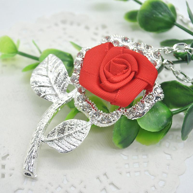 2015 New Fashion Designer Chain Choker Vintage Rhinestone Necklace Rose Statement Necklaces Pendants Women Jewlery F60SS0091