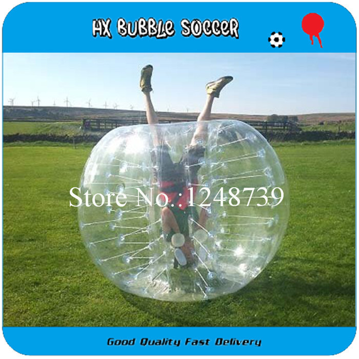 1.0mm PVC Free Ship 1.5m Inflatable human hamster bubble soccer ball,outdoor fun&sports,soccer body zorb bumper ball(China (Mainland))