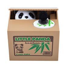 NEW Itazura Automated Cute Panda Steal Money Coin Piggy Bank Saving box()