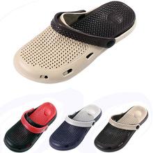 Neue Männer Sommer Loch Schuhe Clogs Cut-Out Garten Schuhe eva Strand Sandalen und Hausschuhe Männer rainning causual Schuhe Solide Schuh(China (Mainland))