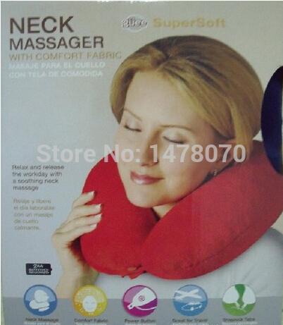Em forma de U massagem elétrica massagem no pescoço emoji macio e confortável Cervical travesseiro promoção(China (Mainland))