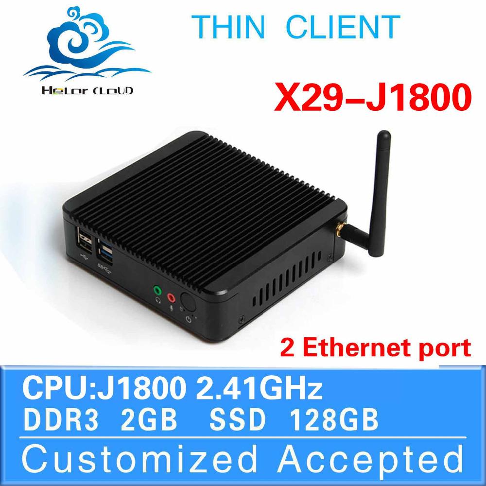 Highest Cost Effective J1800 dual core Support VGA/HDMI Mini PC Thin Client Fanless PC Desktop Computer Mini PC Station(China (Mainland))