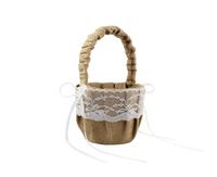 Lace Rustic Wedding girl  Flower Baskets Khaki for arty weeding decoration AE02834